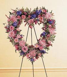 An Open Heart Standing Wreath