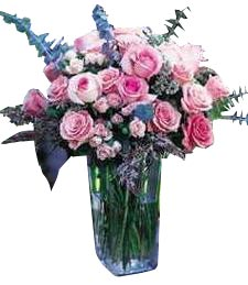 Victorian Pink Rose Vase
