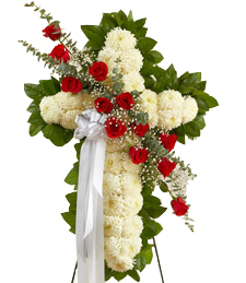 Cross of Faith Standing Wreath